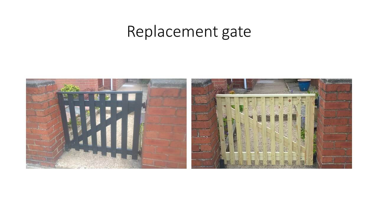 replacement gate for m.lavery